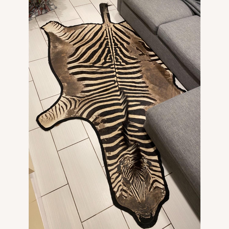 Vintage Real Zebra Hide Rug - image-5