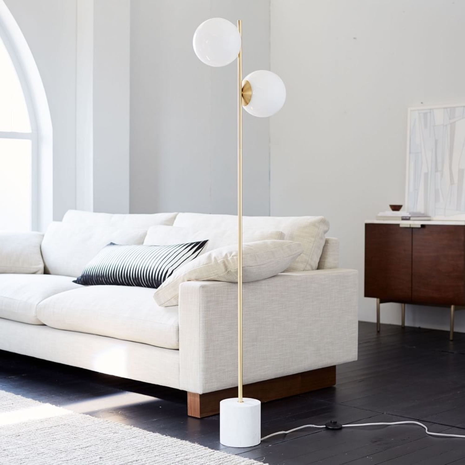 West Elm Sphere & Stem Floor Lamp - image-1