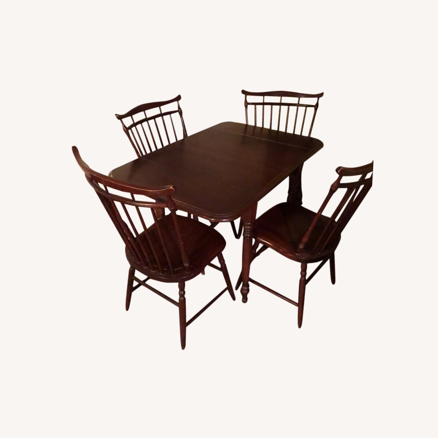 Small Area Dining Table + 4 Chairs - image-0