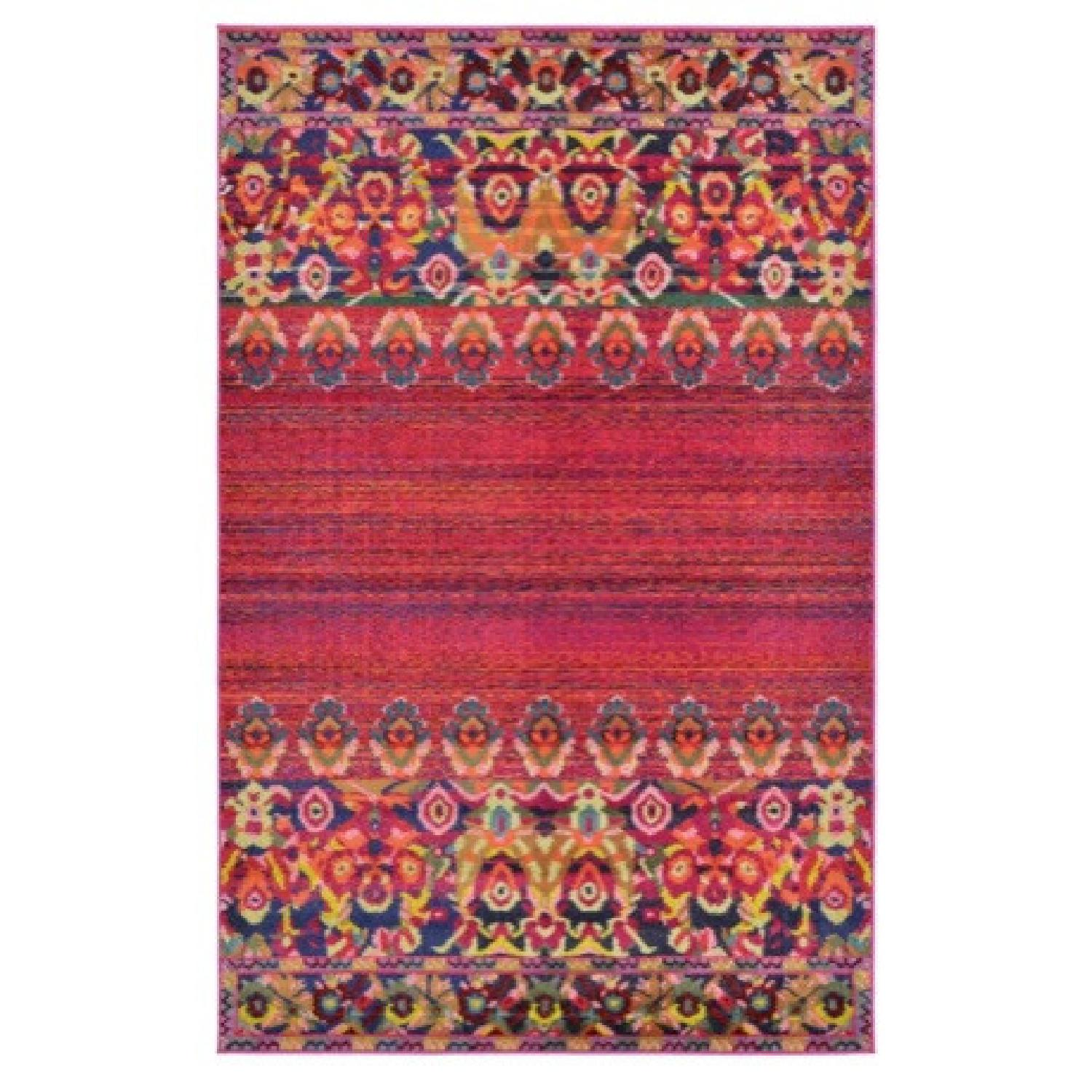 Wayfair Multicolored Red/Pink barely used Area rug - image-3