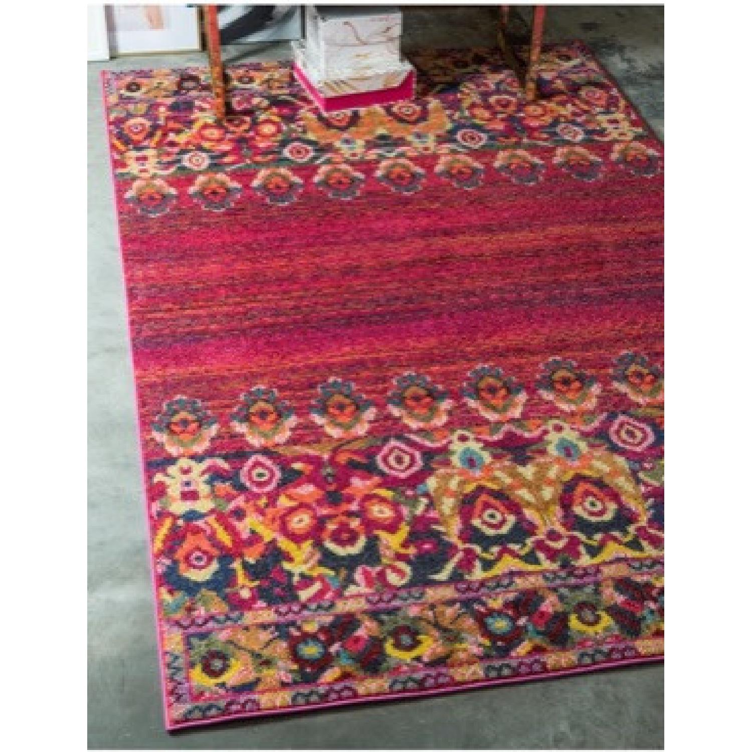 Wayfair Multicolored Red/Pink barely used Area rug - image-2