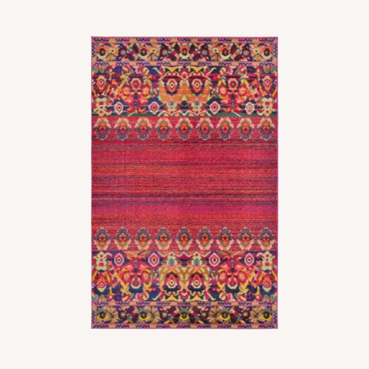Wayfair Multicolored Red/Pink barely used Area rug - image-0