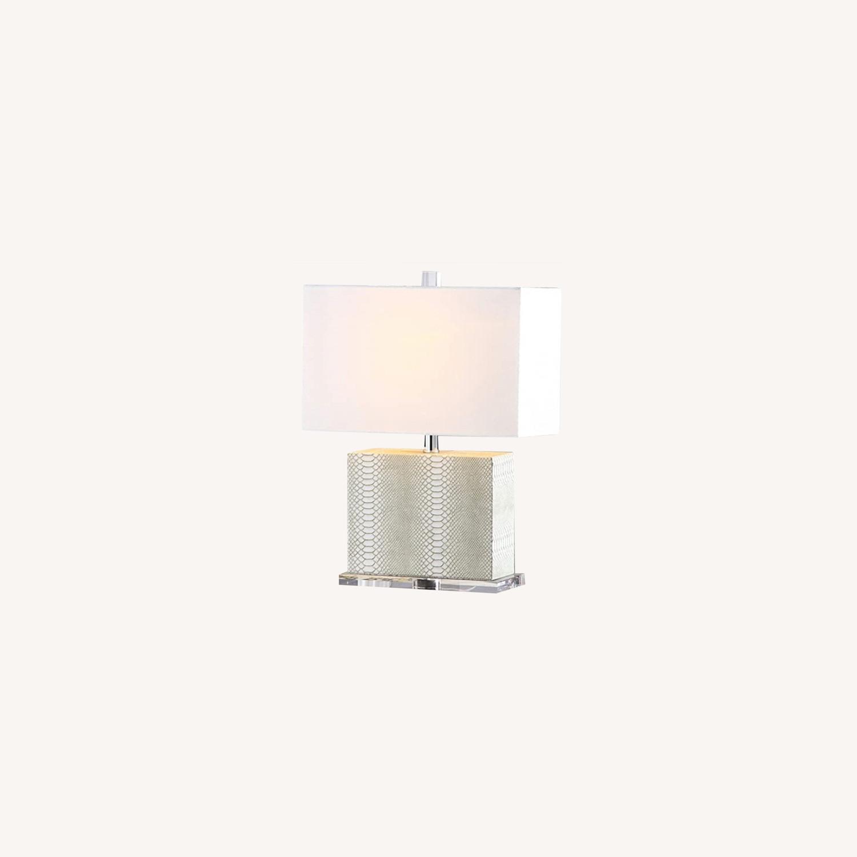 Safaveih Delia Grey/Cream Snakeskin Table Lamps - image-0