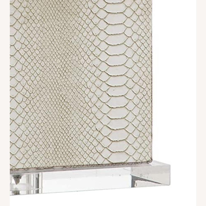 Safaveih Delia Grey/Cream Snakeskin Table Lamps - image-5