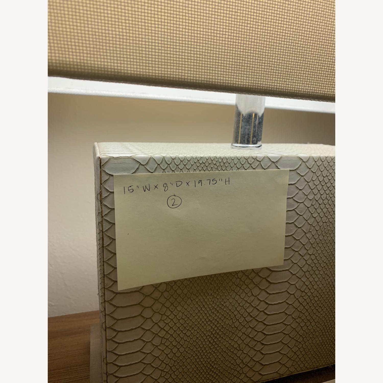 Safaveih Delia Grey/Cream Snakeskin Table Lamps - image-3