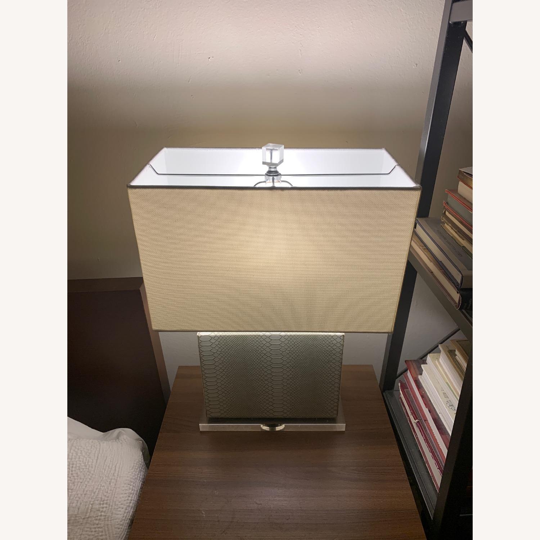 Safaveih Delia Grey/Cream Snakeskin Table Lamps - image-4