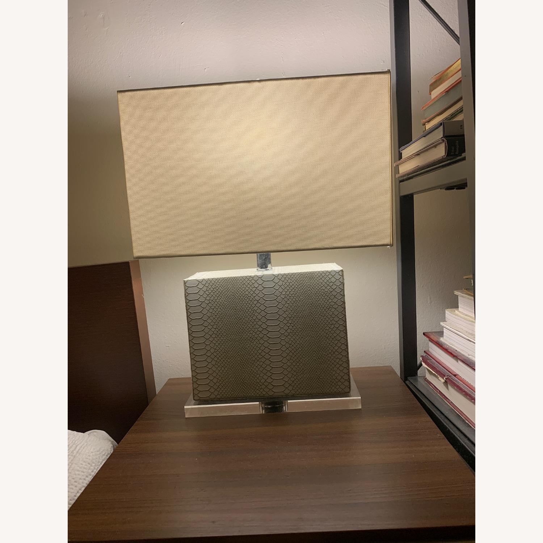 Safaveih Delia Grey/Cream Snakeskin Table Lamps - image-2