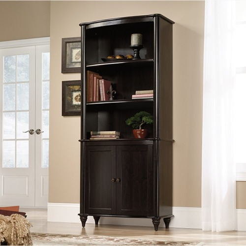 Used Sauder Bookcase New Albany Library w/Doors for sale on AptDeco