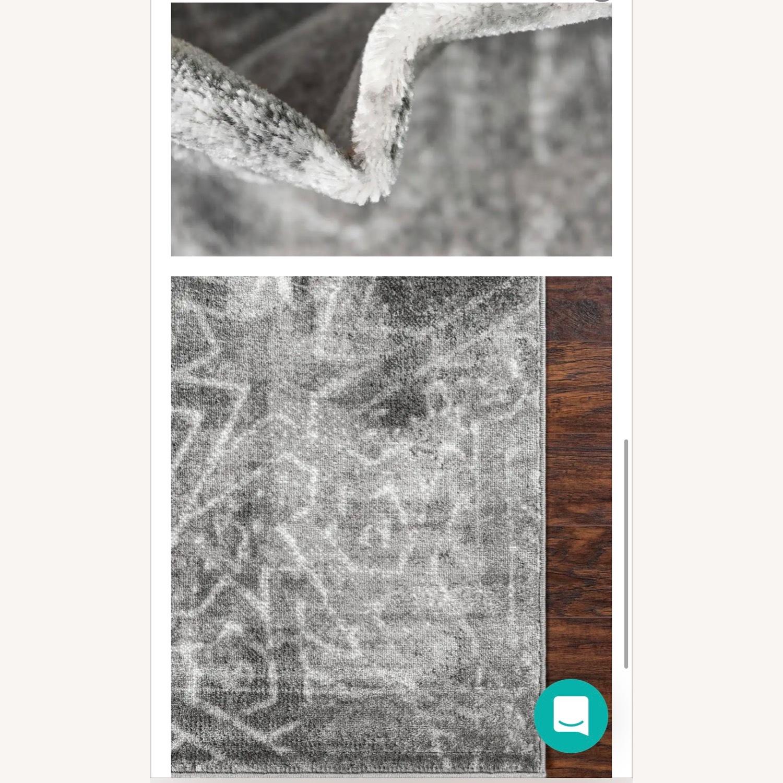 Silver/Gray Geometric Area Rug - image-2