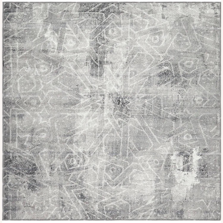 Silver/Gray Geometric Area Rug - image-1