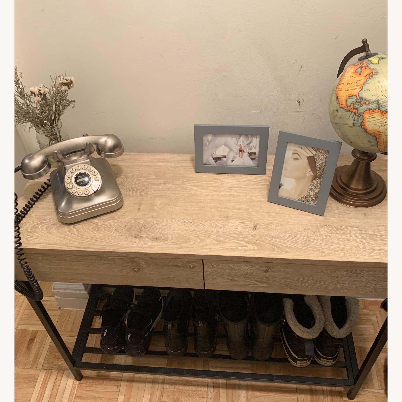 Target Vintage Oak Console Table - image-2