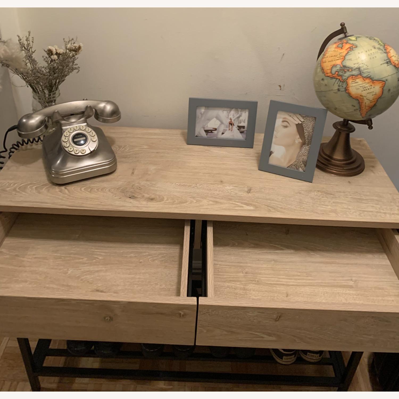 Target Vintage Oak Console Table - image-3