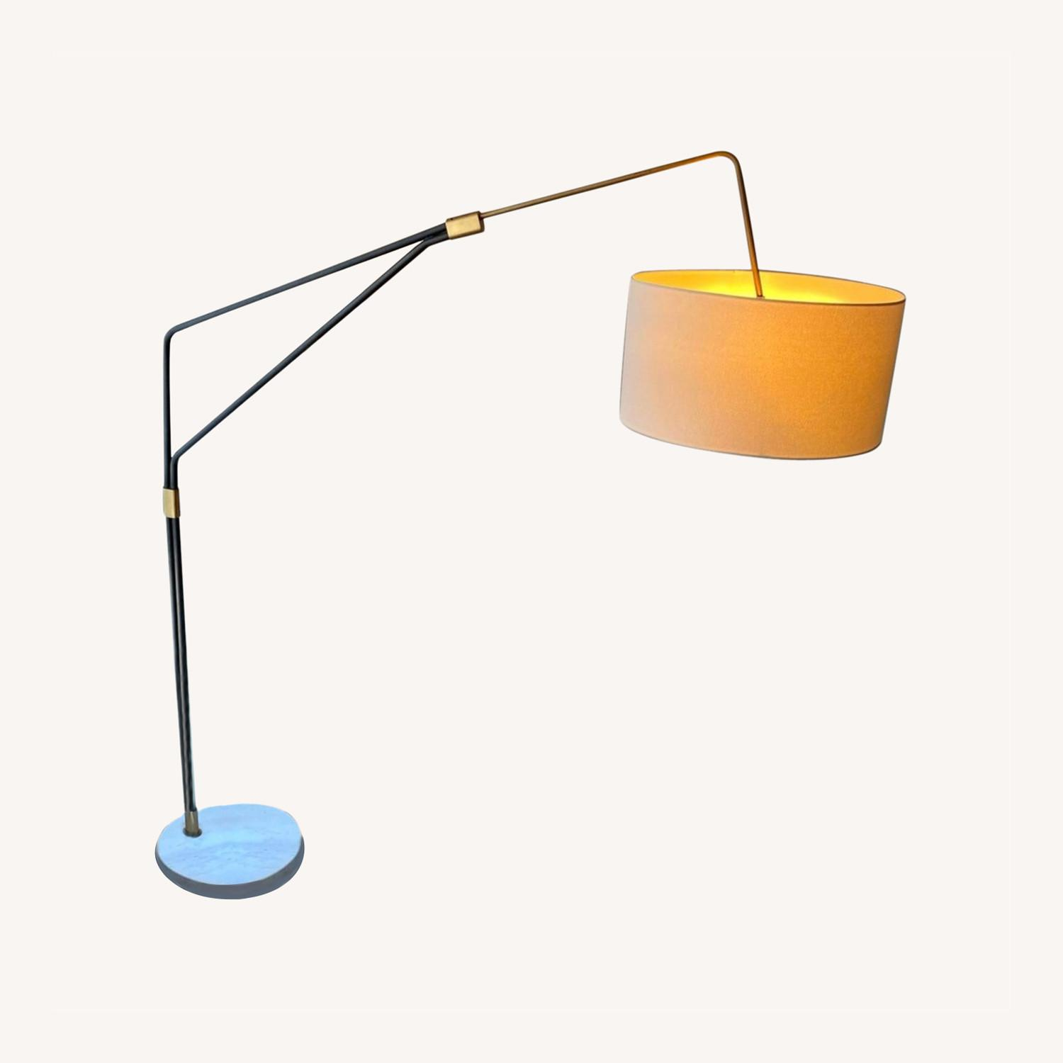 Modern Arc Floor Lamp with Marble Base - image-4
