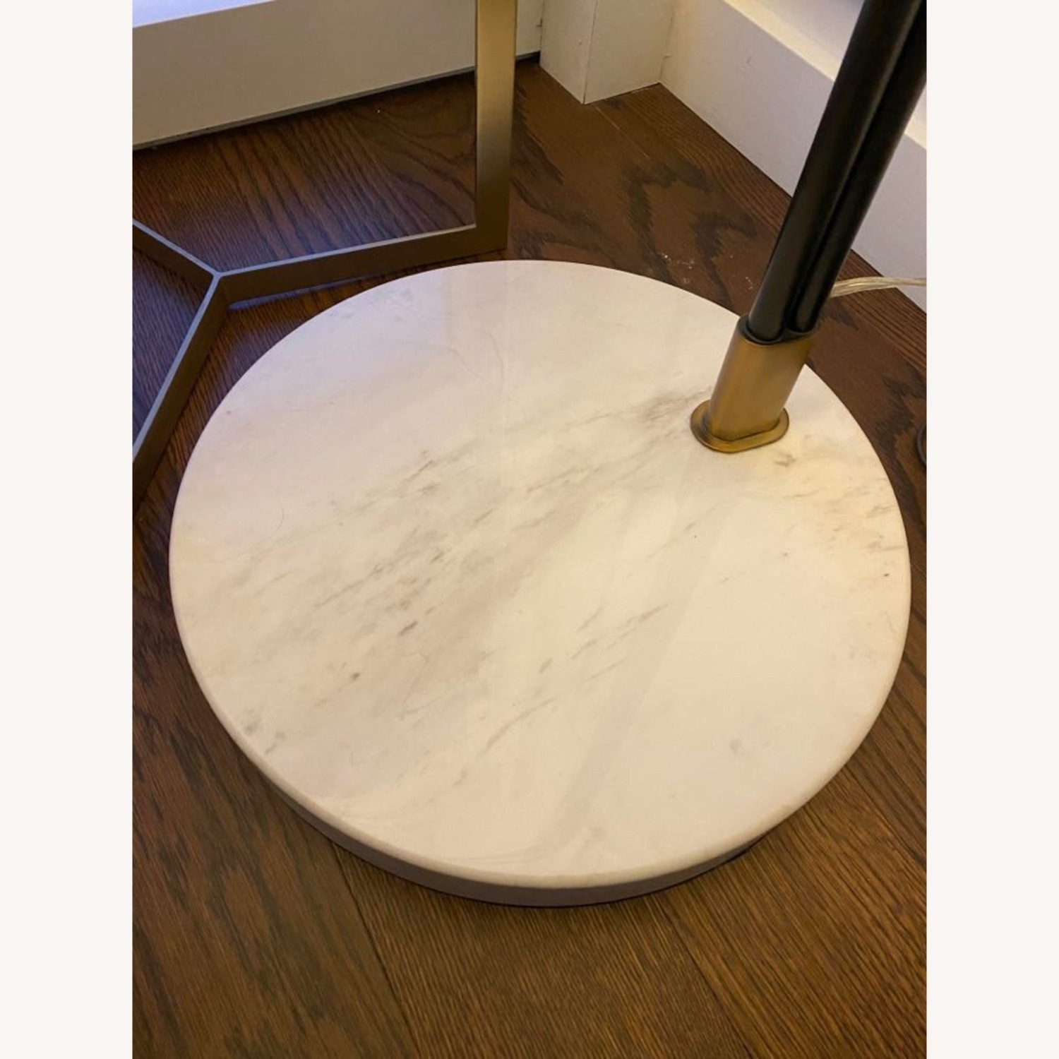 Modern Arc Floor Lamp with Marble Base - image-3