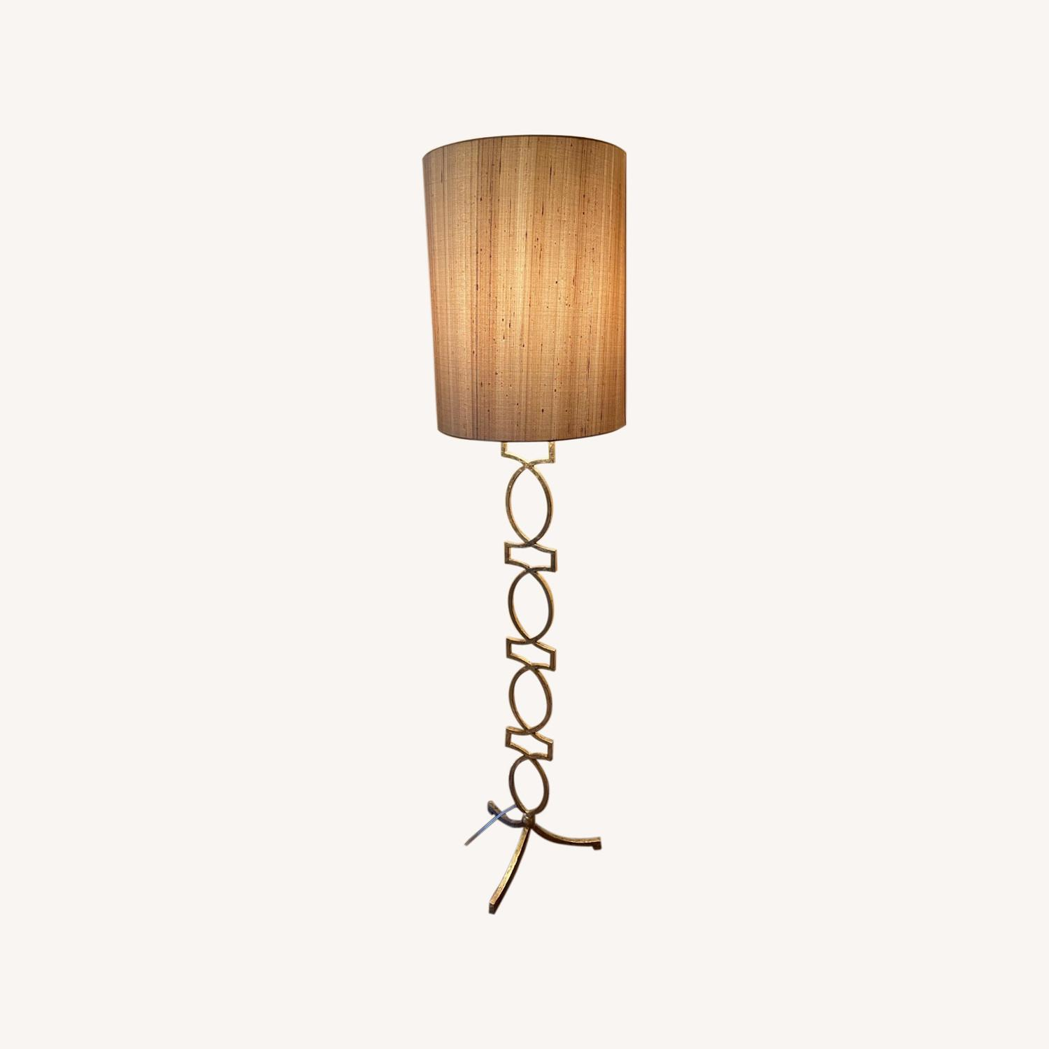 Sophisticated Gold Floor Lamp - image-0