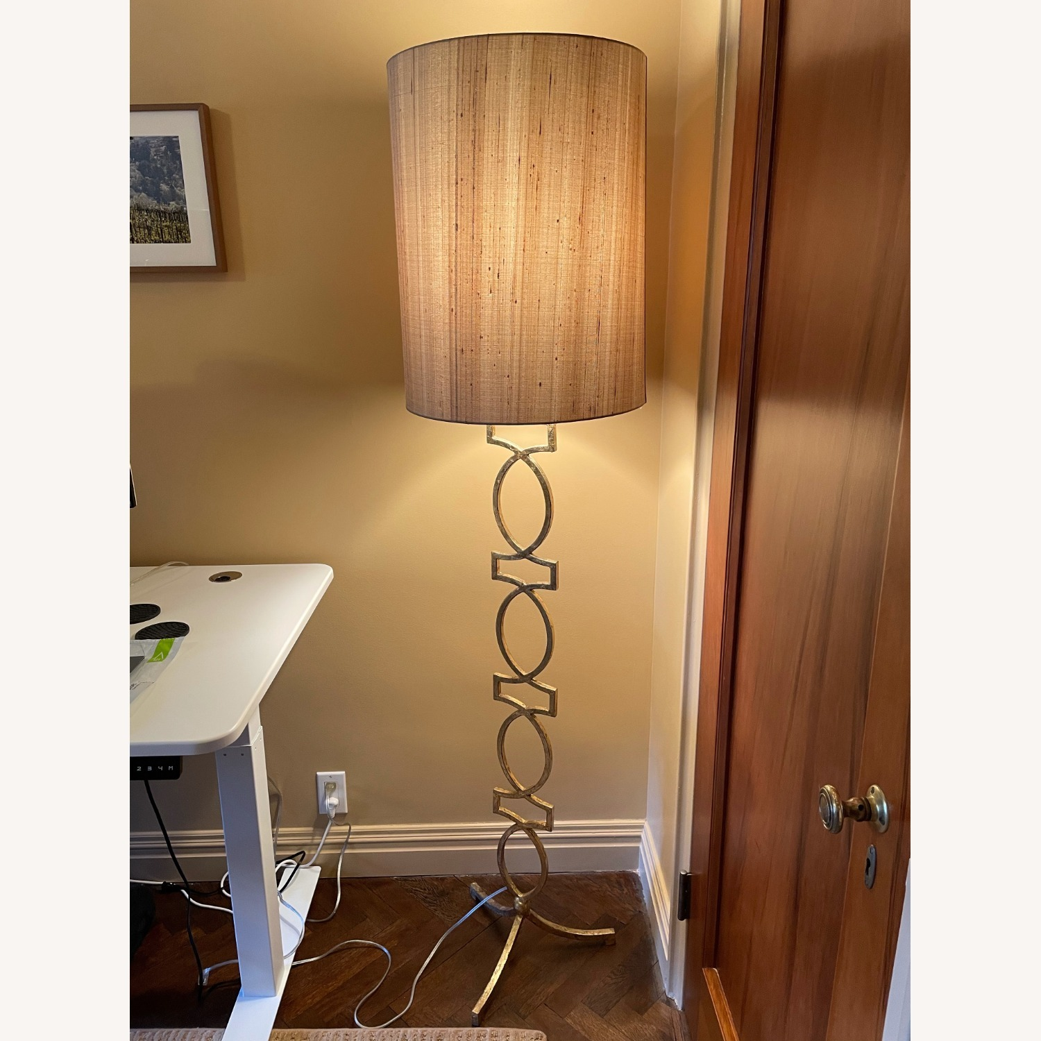 Sophisticated Gold Floor Lamp - image-1