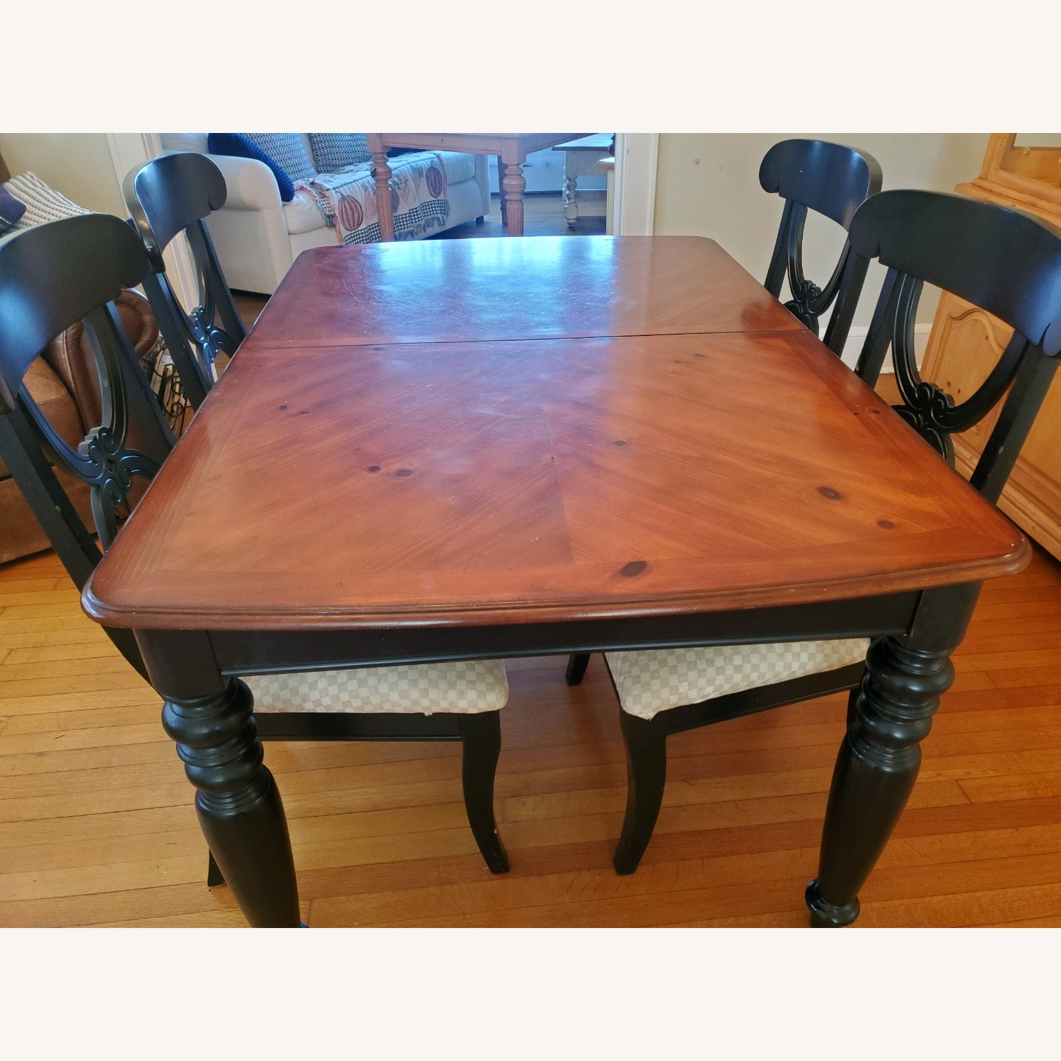 5 pc Country Style Wood Dining Room Set - image-0
