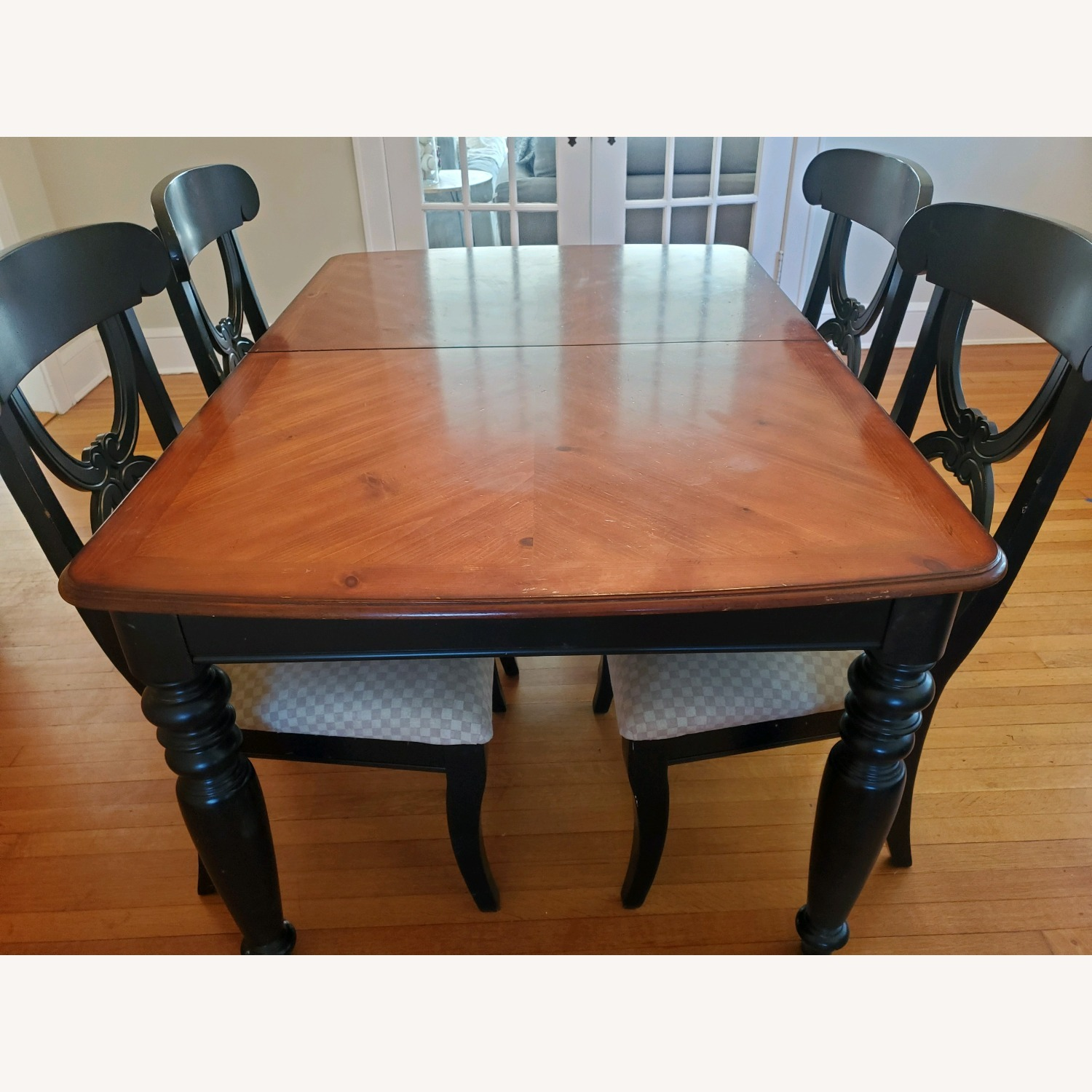 5 pc Country Style Wood Dining Room Set - image-5