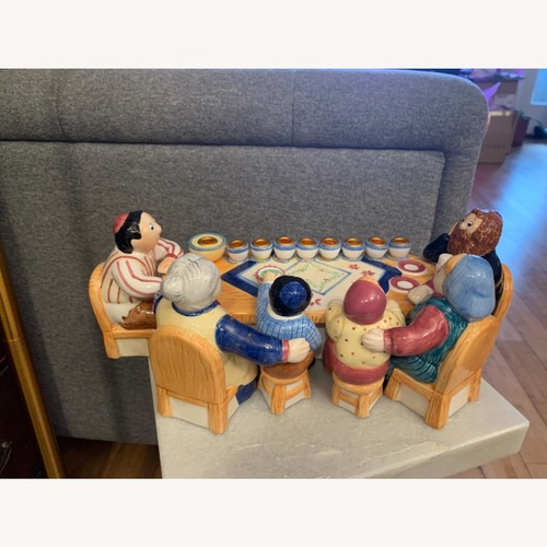 Used Lotus Family Ceramic Menorah for sale on AptDeco
