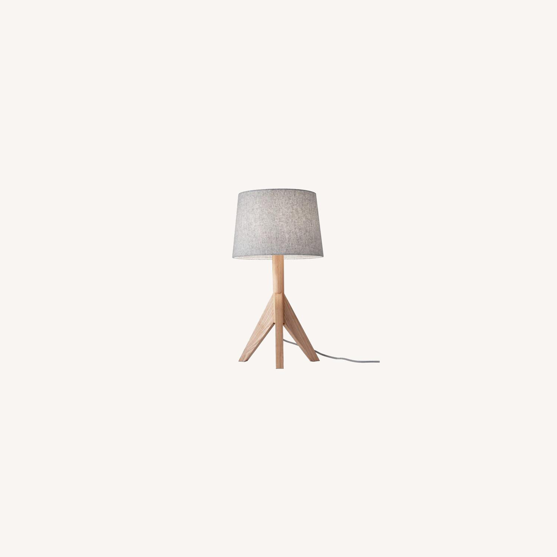 Wayfair All Modern Gray Tripod Table Lamps (2) - image-0