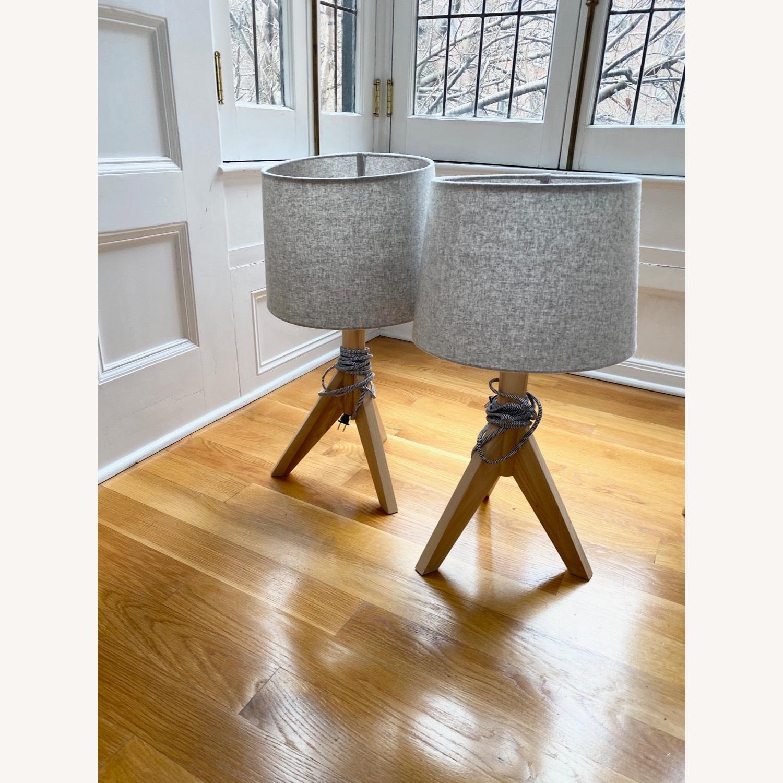 Wayfair All Modern Gray Tripod Table Lamps (2) - image-5