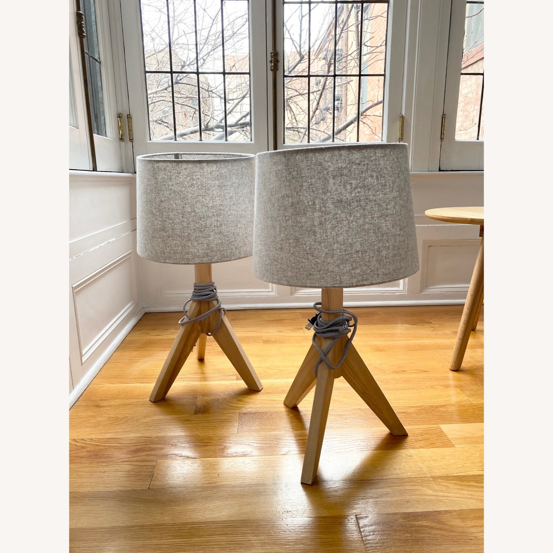 Wayfair All Modern Gray Tripod Table Lamps (2) - image-4