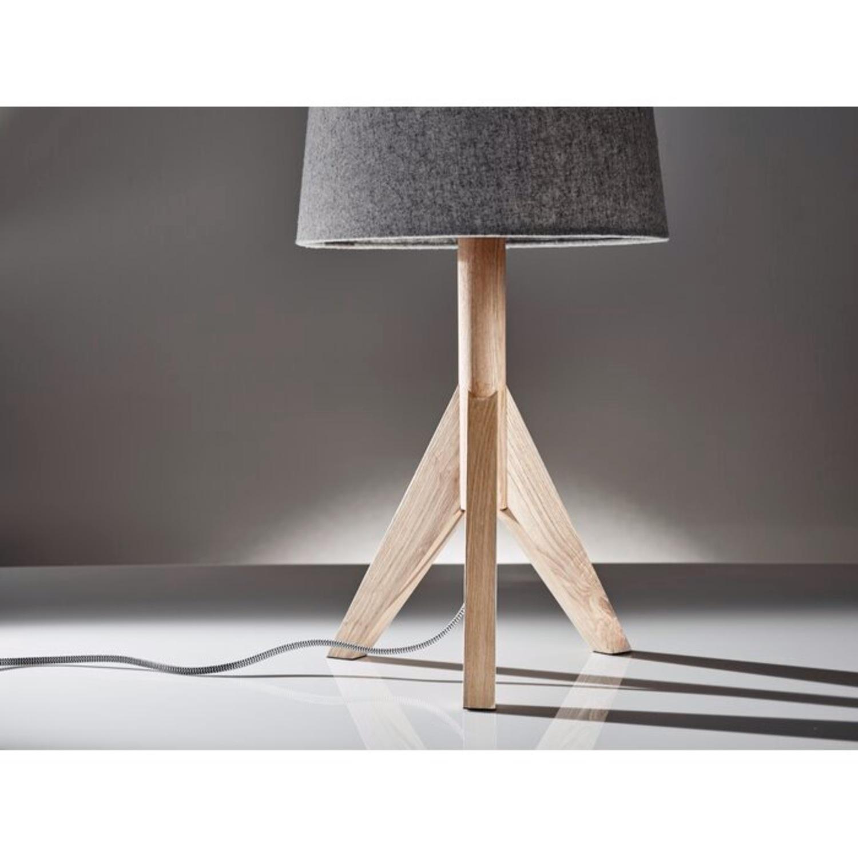 Wayfair All Modern Gray Tripod Table Lamps (2) - image-2