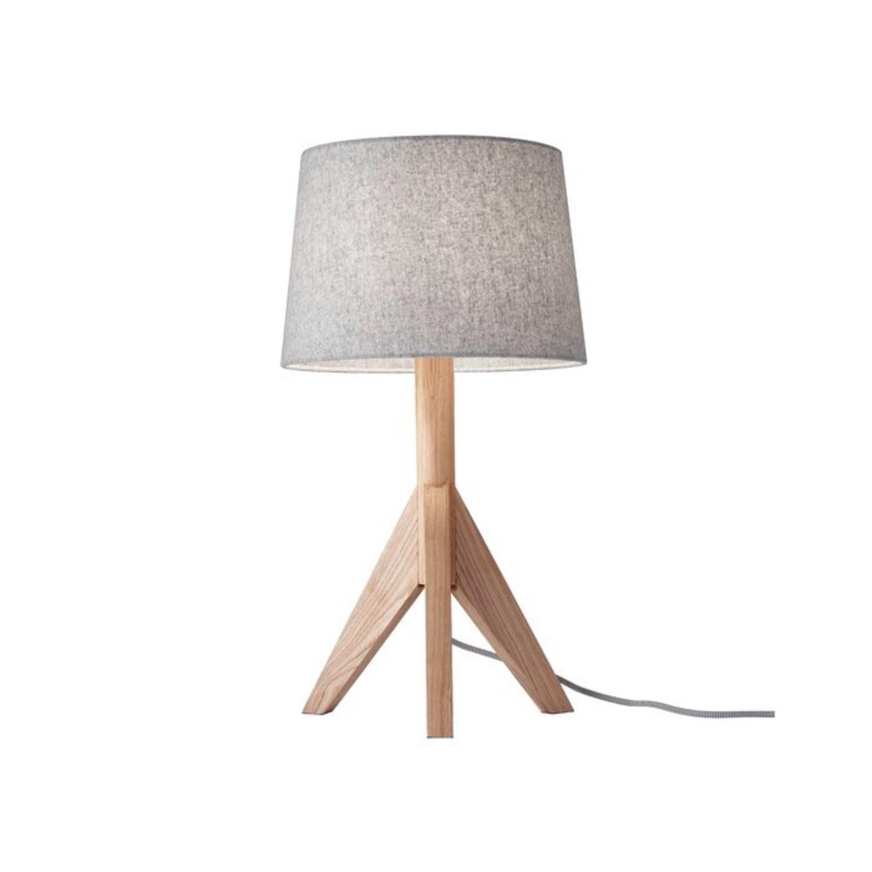 Wayfair All Modern Gray Tripod Table Lamps (2) - image-1