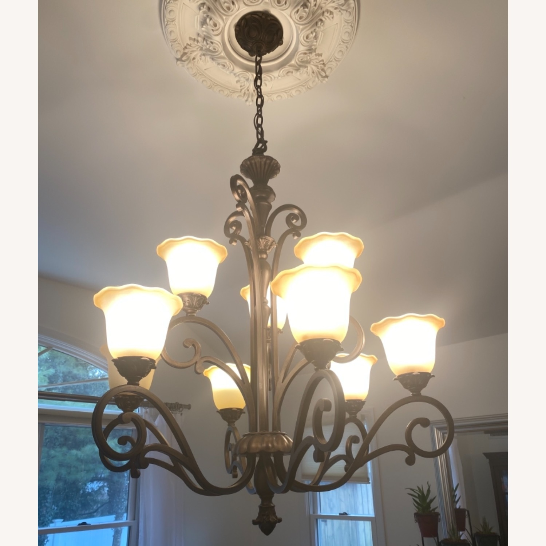 Bronze 9 Lamp Chandelier - image-4