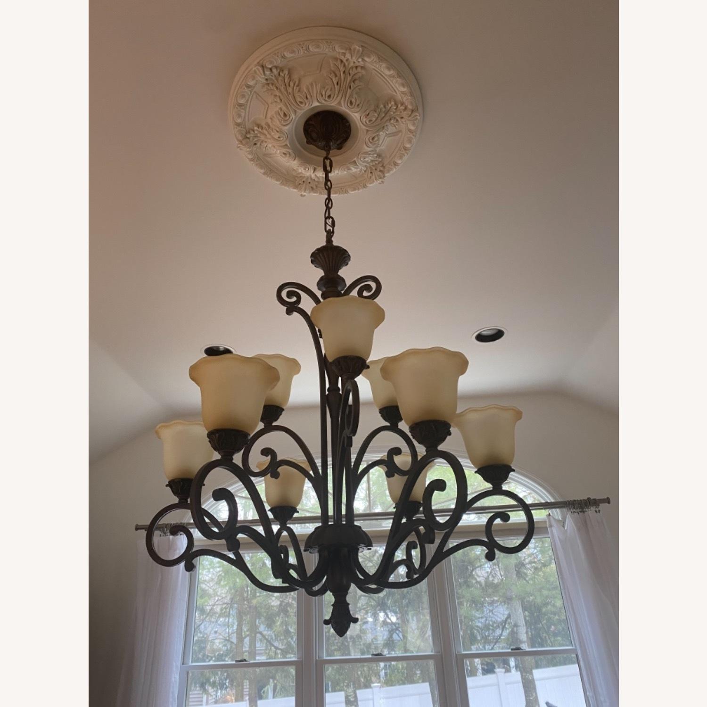 Bronze 9 Lamp Chandelier - image-2