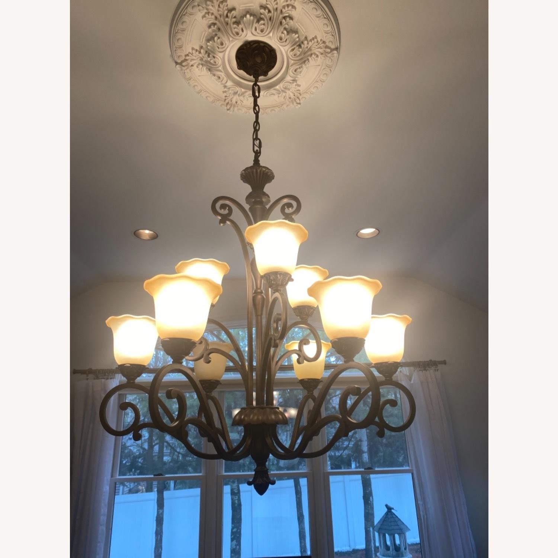 Bronze 9 Lamp Chandelier - image-3