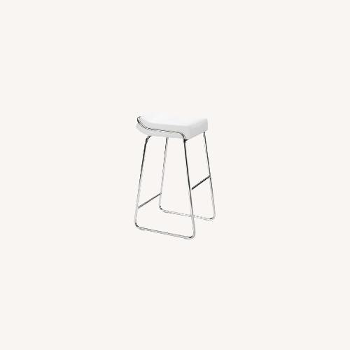 Used Inmod White Wedge Bar Stool for sale on AptDeco