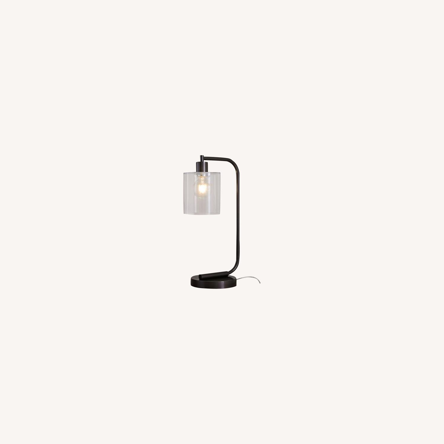 West Elm Lens Table Lamp with USB - image-0