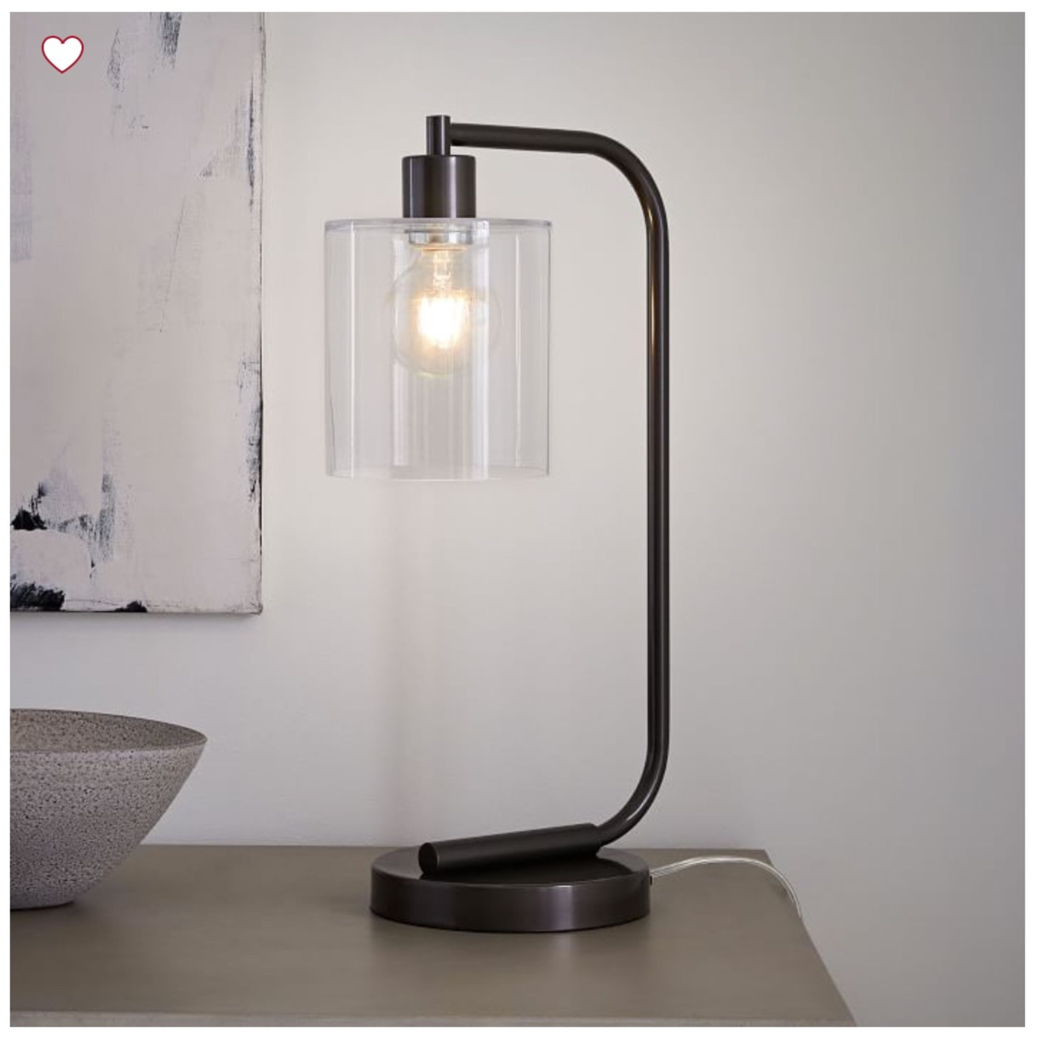 West Elm Lens Table Lamp with USB - image-3