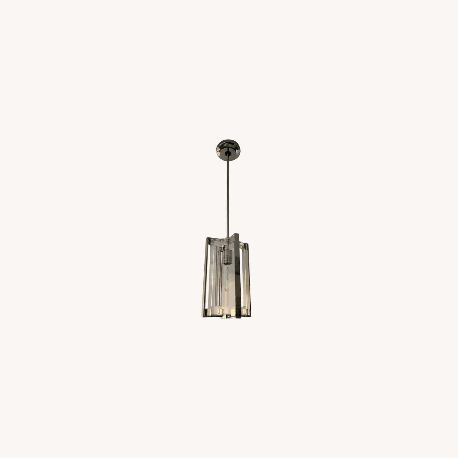Pair of Hanging Ceiling Lights - image-0