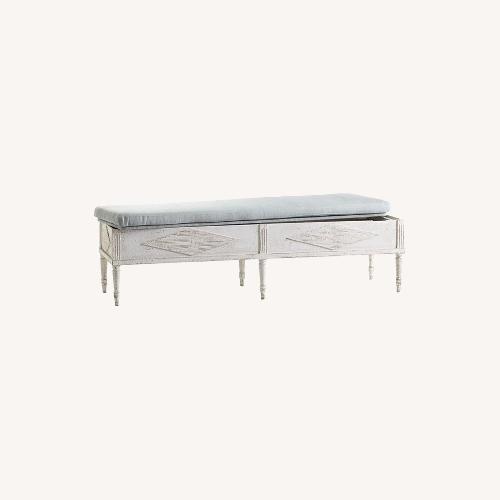 Used Wisteria Swedish Storage Bench for sale on AptDeco