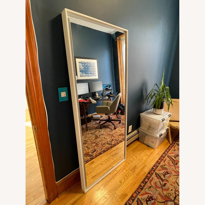 West Elm Floating Wood Floor Mirror in White - image-4