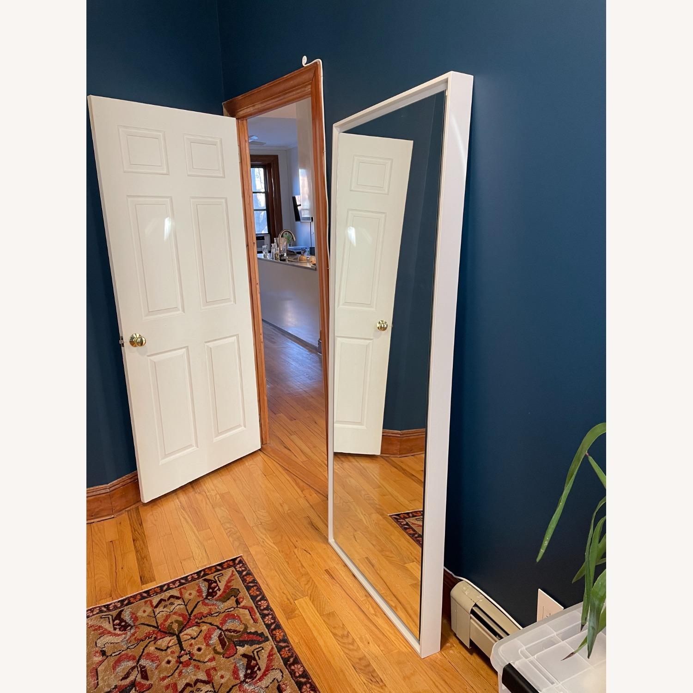 West Elm Floating Wood Floor Mirror in White - image-3
