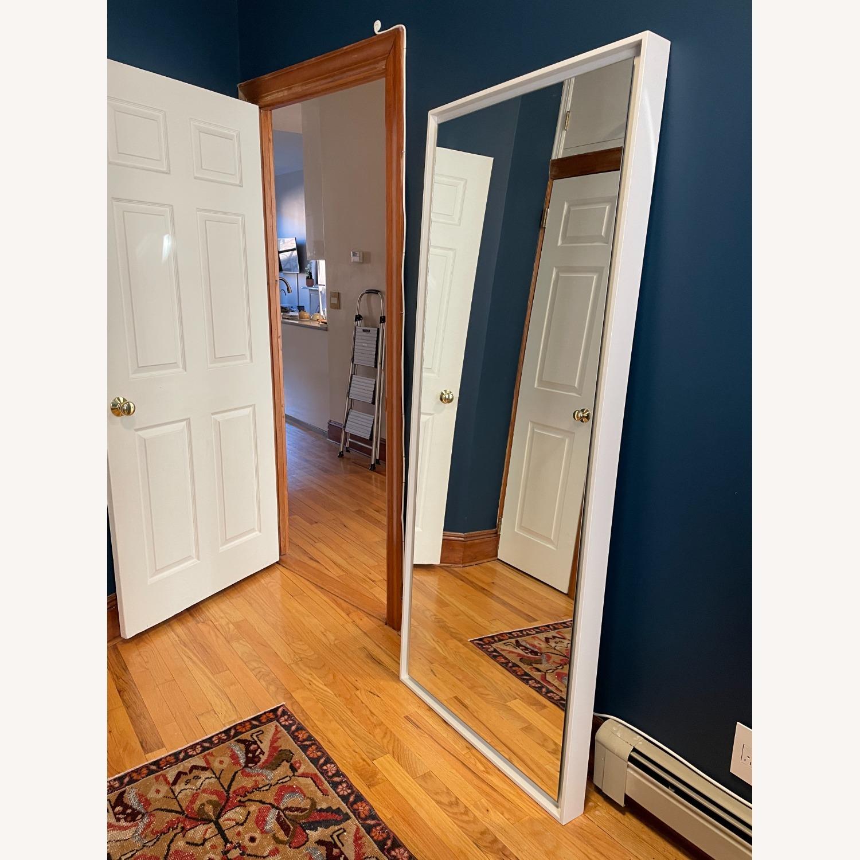 West Elm Floating Wood Floor Mirror in White - image-2