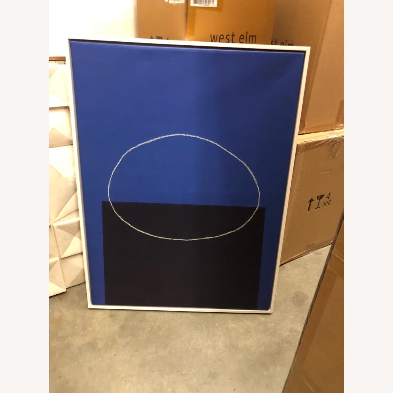 West Elm Framed Canvas Print Rebuilding by Moonlight - image-2