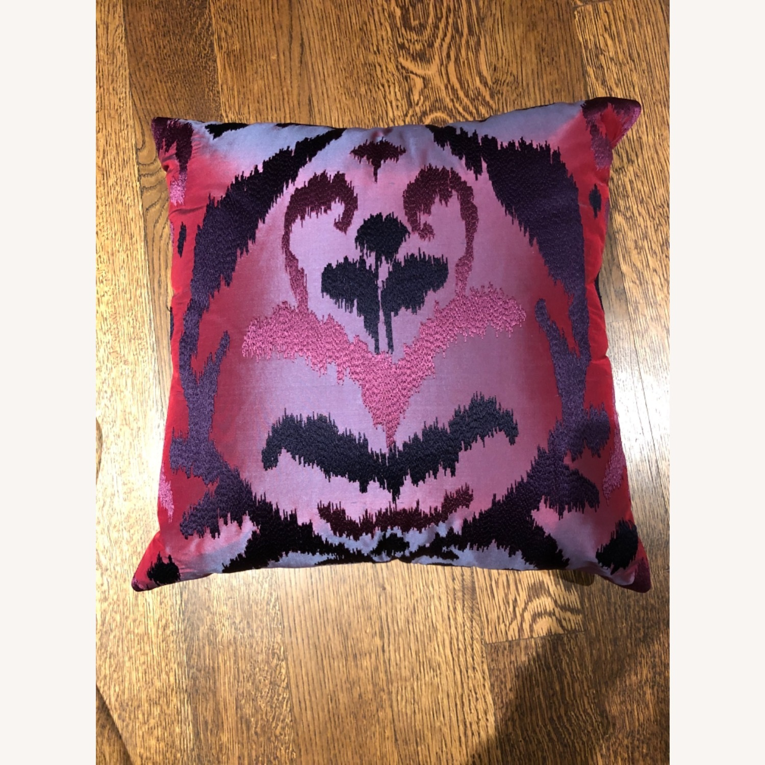 Custom Silk Embroidered Ikat Pillows - image-3