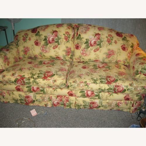 Used Bassett Gold Floral Sofa for sale on AptDeco