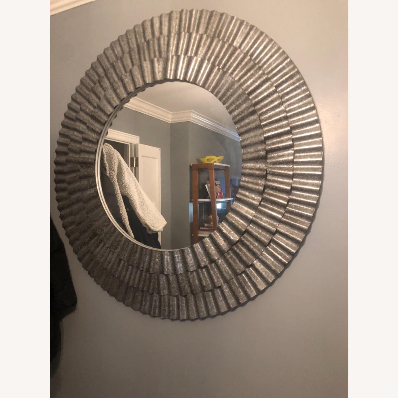 Vintage Fun Silver Mirror - image-1
