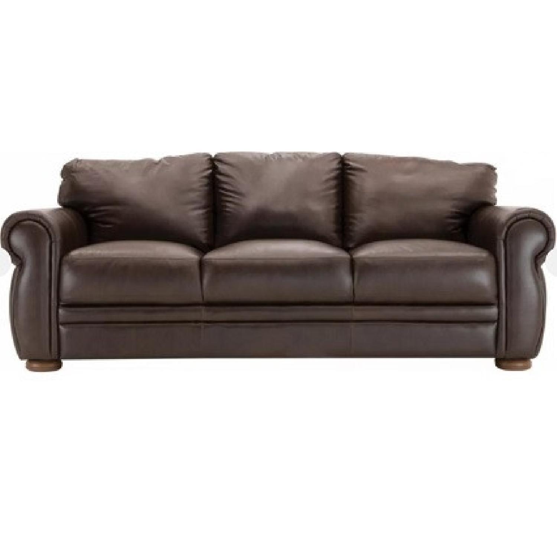 Chateau Dax Marsala Leather Sofa - image-4