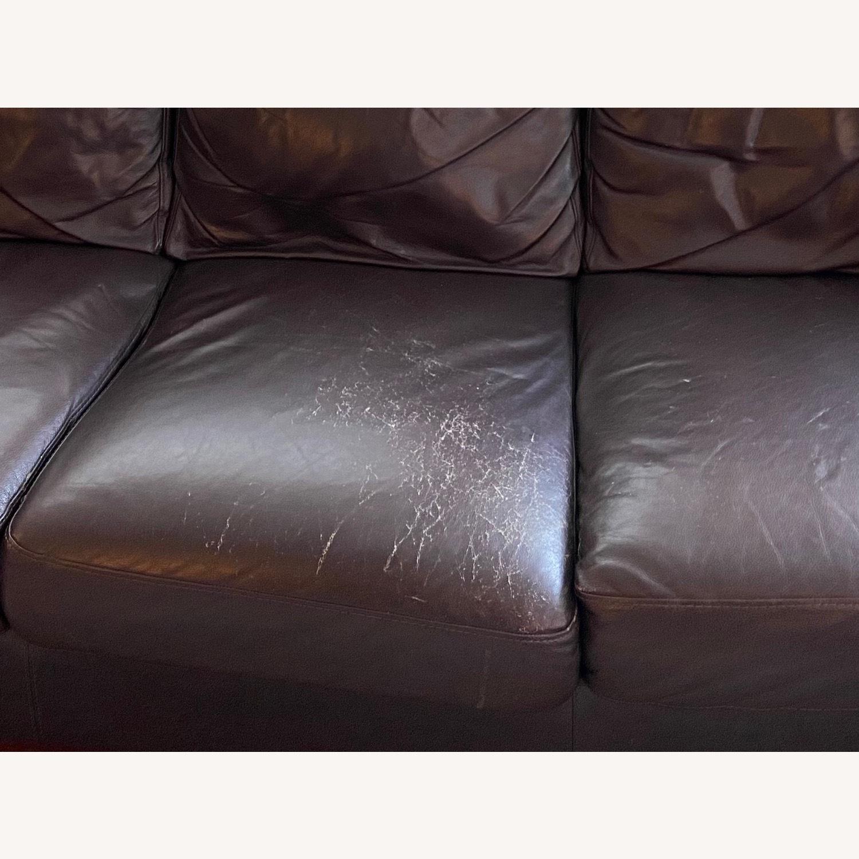 Chateau Dax Marsala Leather Sofa - image-2