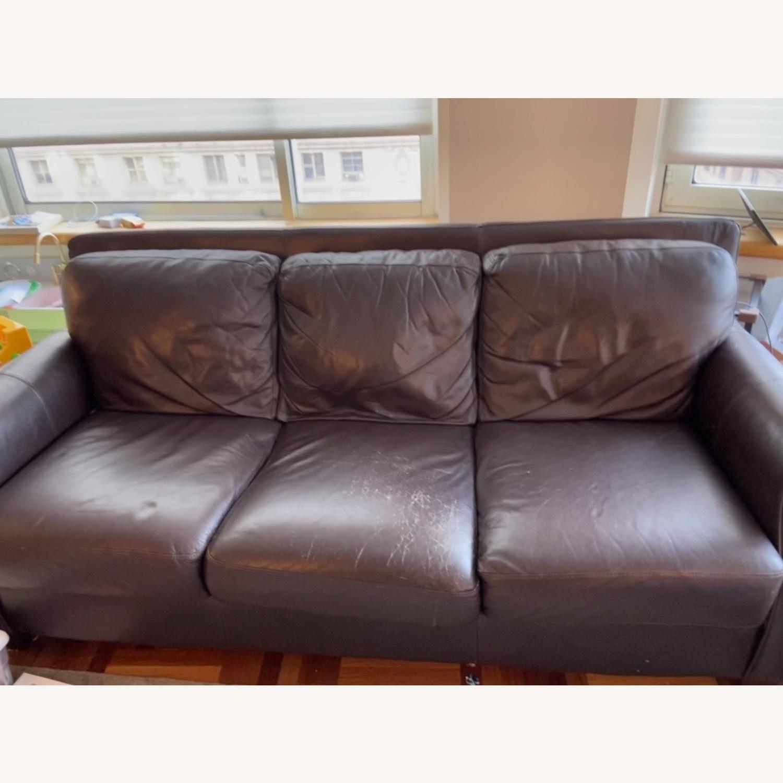 Chateau Dax Marsala Leather Sofa - image-3