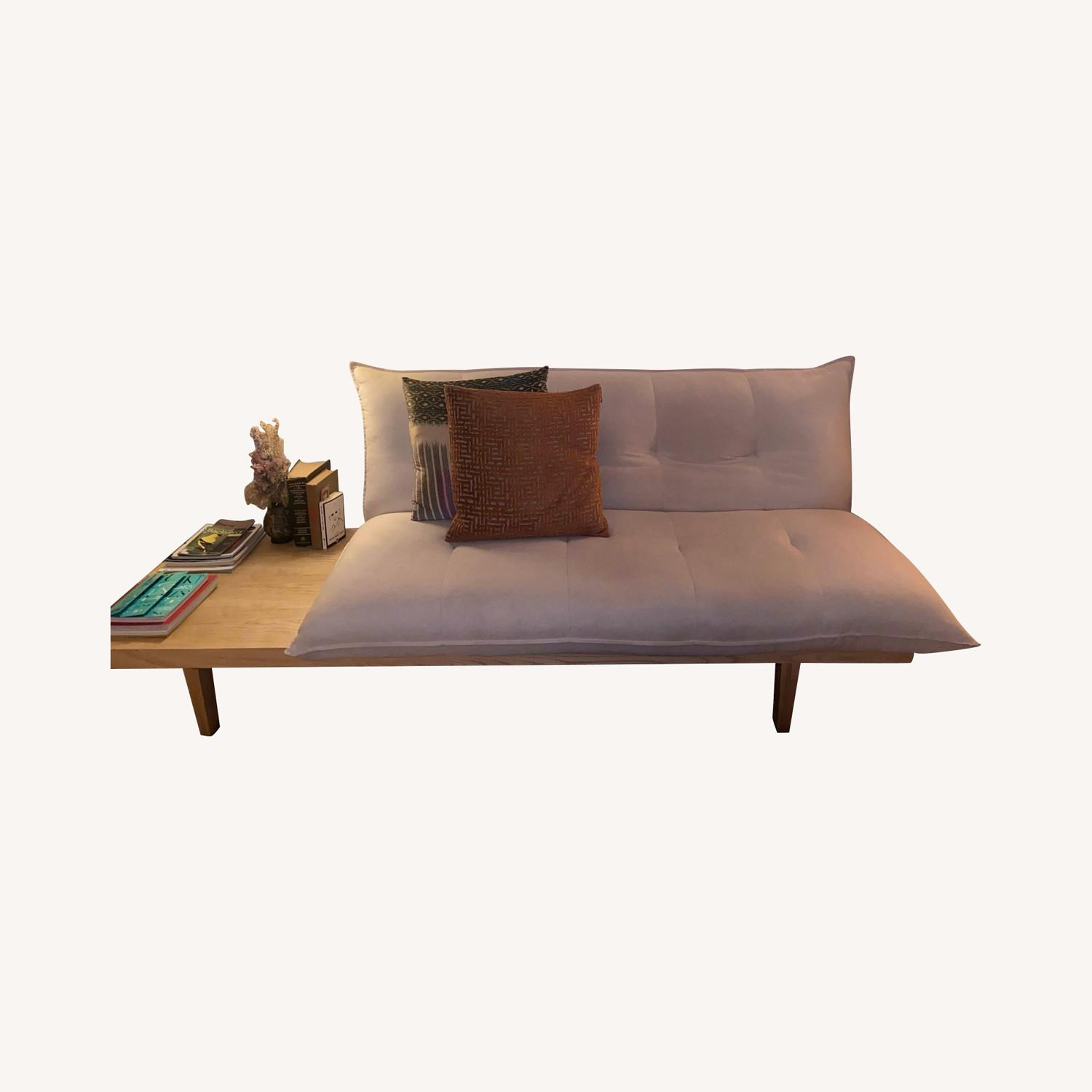 Urban Outfitters Reid Side Table Convertible Sofa - image-0