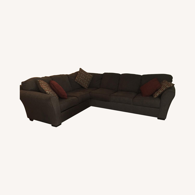 Ashley Furniture Dary Gray Sectional w/ Matching Ottoman - image-0
