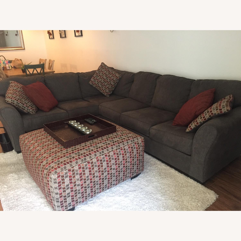 Ashley Furniture Dary Gray Sectional w/ Matching Ottoman - image-2