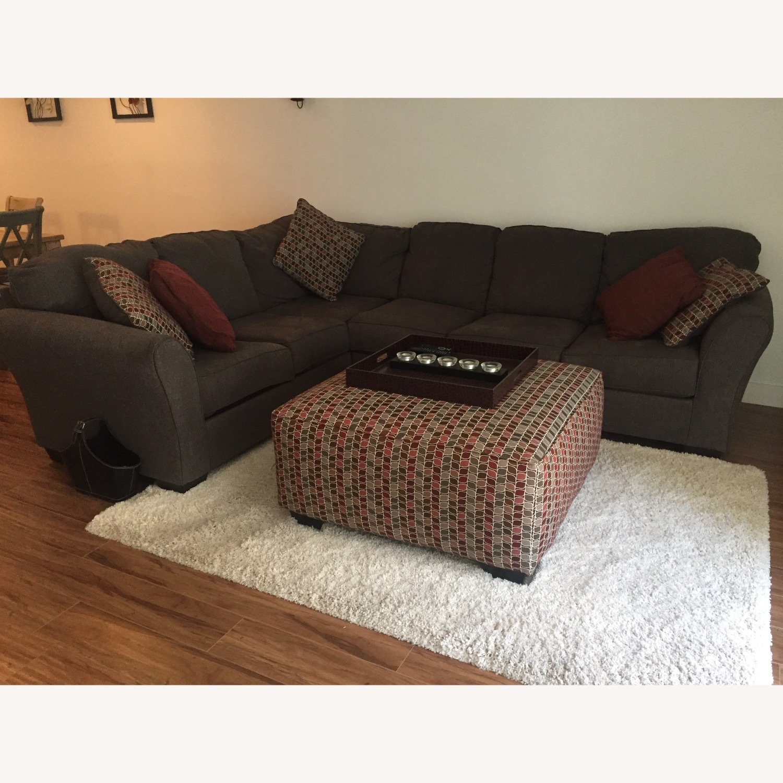 Ashley Furniture Dary Gray Sectional w/ Matching Ottoman - image-1